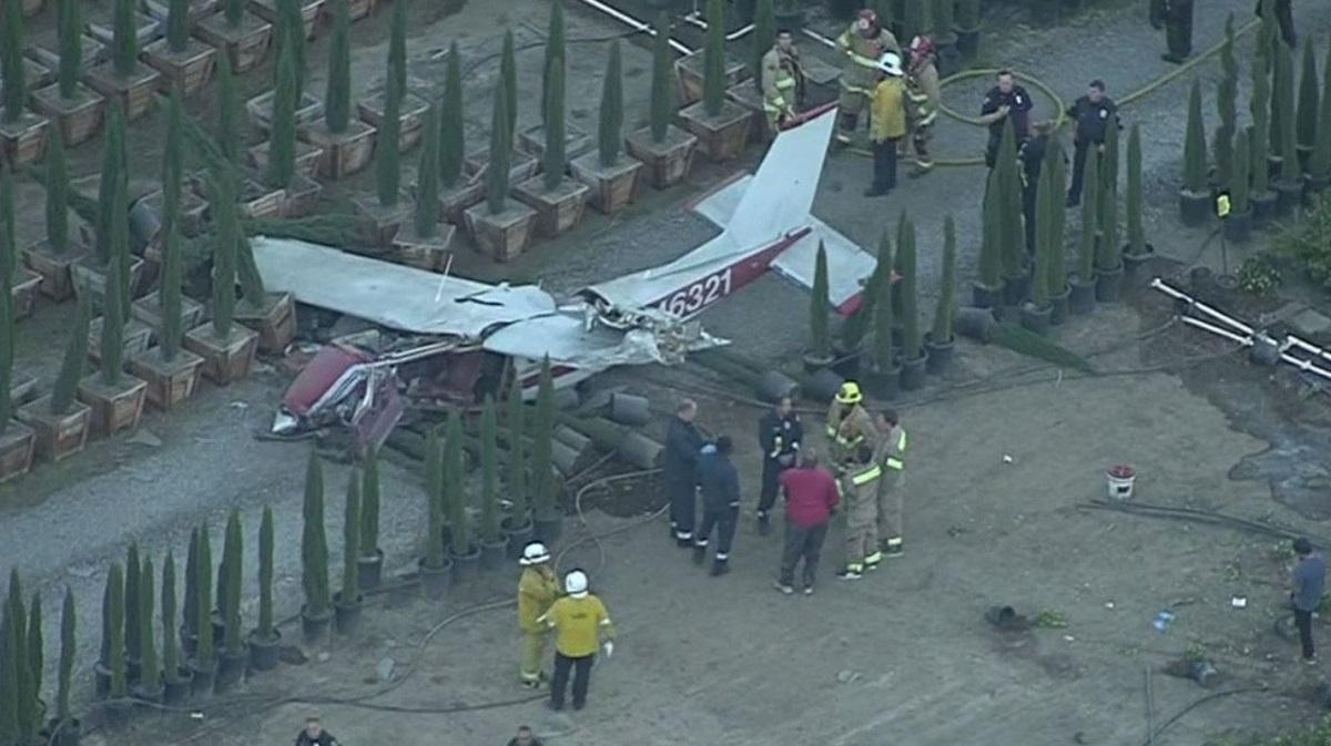A plane crash in La Verne on Sept. 30, 2018.