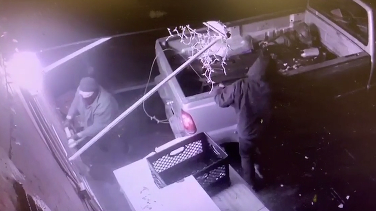 The crime at the Ramona Farms Market on Main Street was captured on surveillance video.