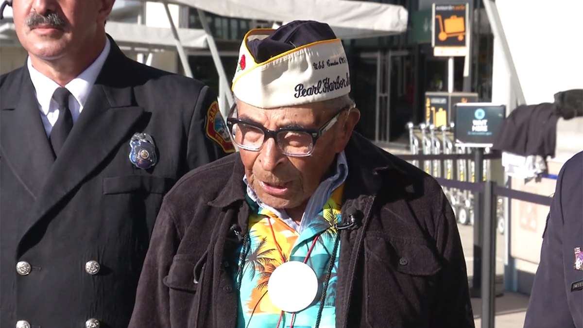 Ray Chavez in December 2016 -- when he was 104 years old.