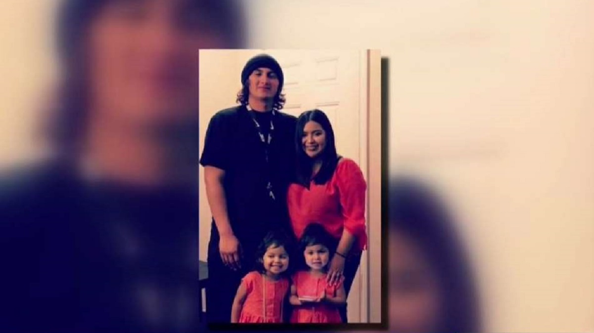 Ricky Sandoval, who was killed in a hit-and-run crash, with his wife and two daughters.