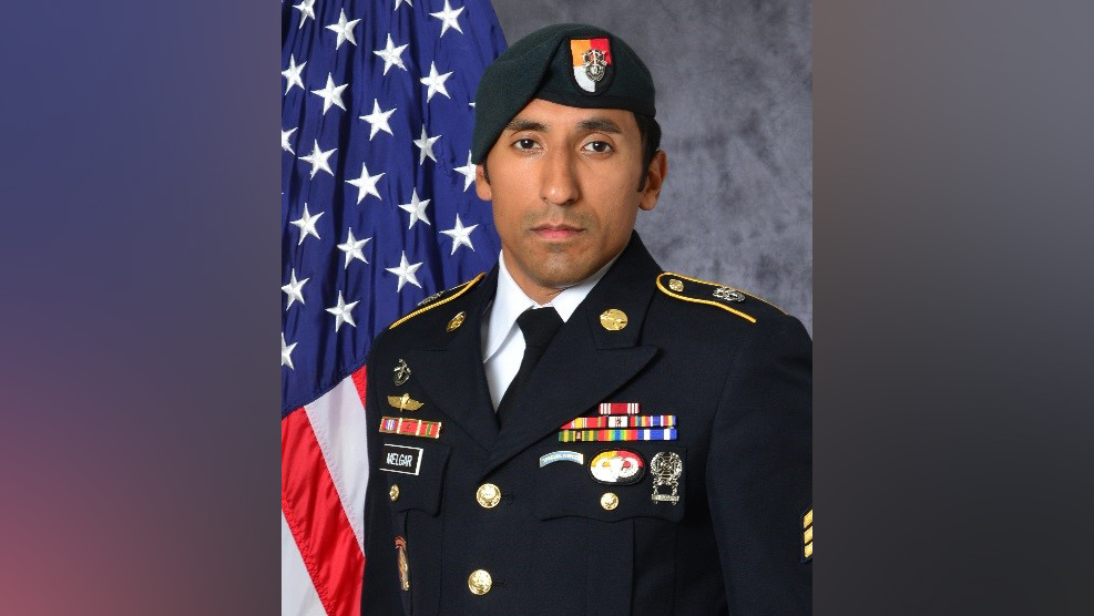 A U.S. Army official photo shows Staff Sgt Logan J. Melgar, the Green Beret who died under suspicious circumstances in Mali in June.