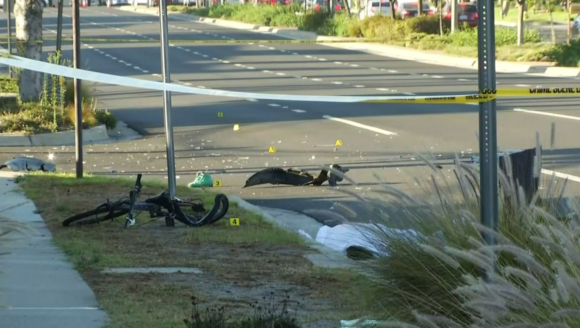 A bicyclist is killed in a hit-and-run crash on Hawthorne Boulevard in Torrance on Monday, Sept. 17, 2018.