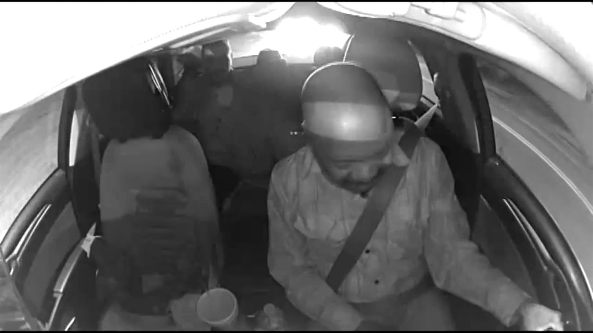 A taxi driver is struck in the head by a bottle while driving in Louisville, Kentucky.