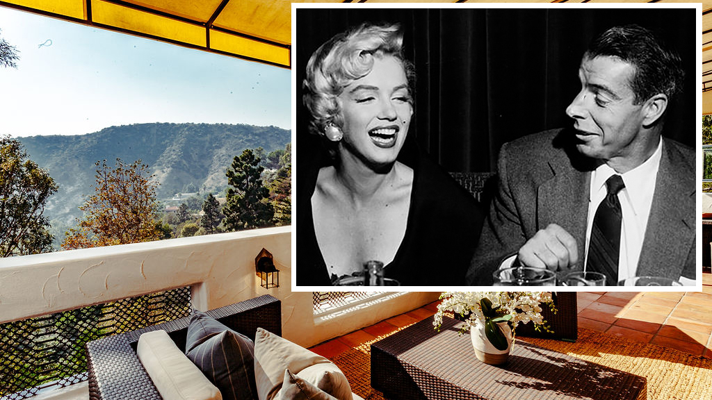 The Hollywood Hills home on Castilian Drive where Marilyn Monroe and husband Joe DiMaggio spent their honeymoon is on the market.