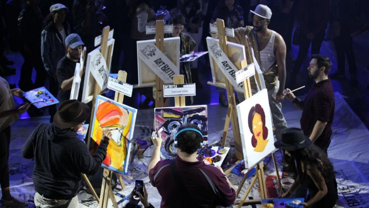 Brushes Meet Canvases, Quickly, at Art Battle LA