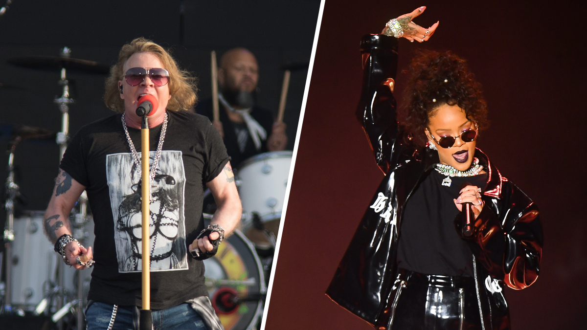 Axl Rose (left) and Rihanna have joined a growing list of musicians decrying President Donald Trump's use of their music at his events.