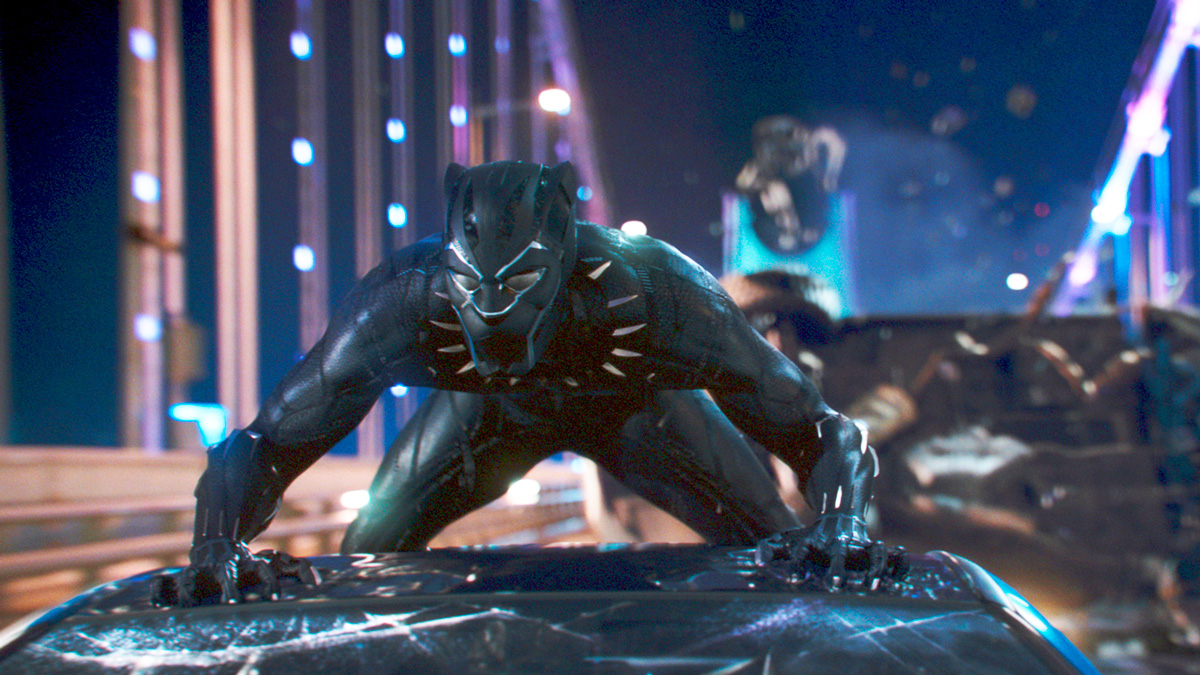 This image released by Disney shows a scene from Marvel Studios'
