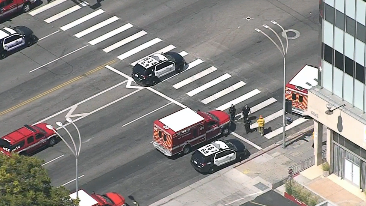 Officers are responding to a report of a shooting Thursday near a charter high school in Van Nuys.