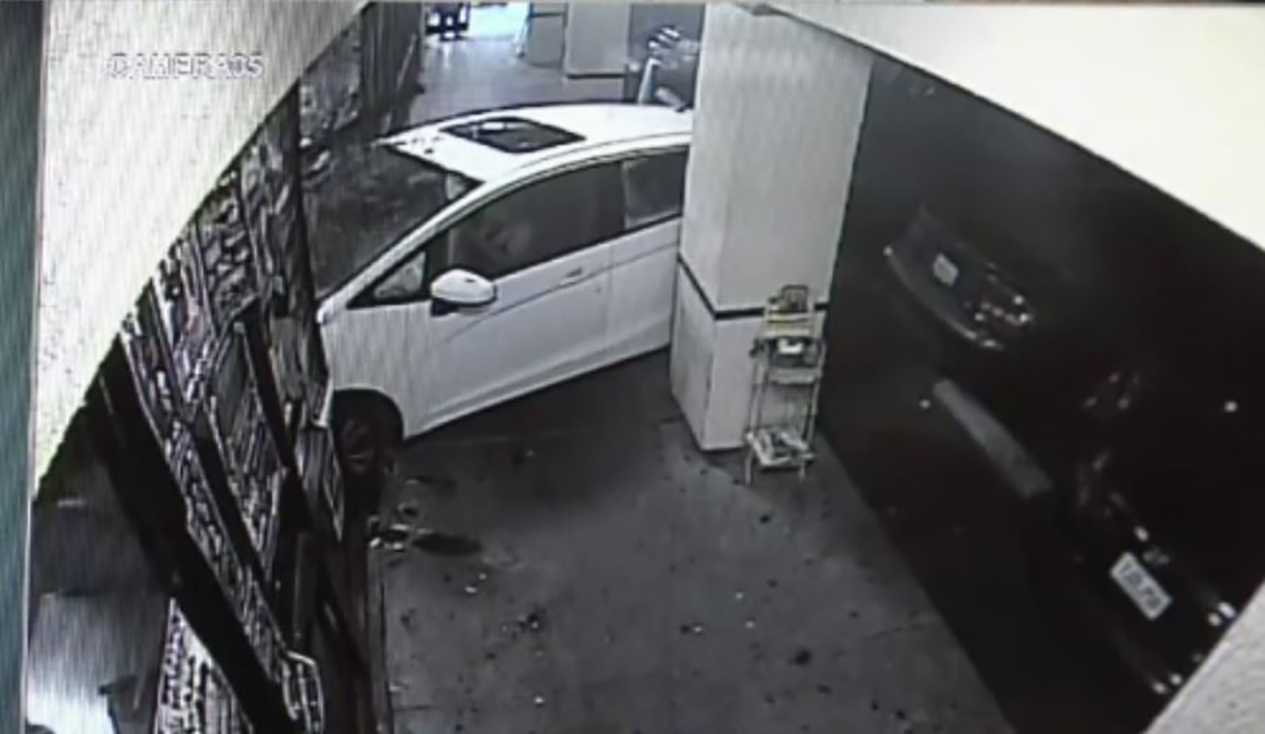 Car Slams Through Front of Restaurant, Worker Injured