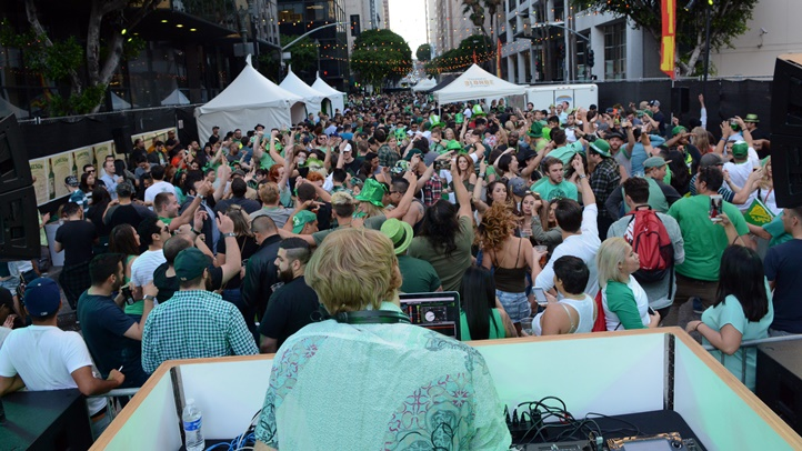 Casey's Irish Pub in downtown Los Angeles will once again host a rollicking, close-down-the-street shindig on Saturday, March 17. Four blocks of DTLA will shutter for the bash.