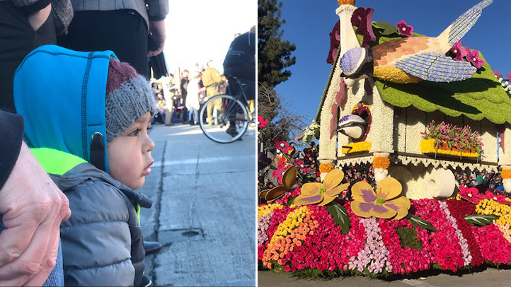 Crowds gathered to watch the 130th Tournament of Roses parade Jan. 1, 2019.