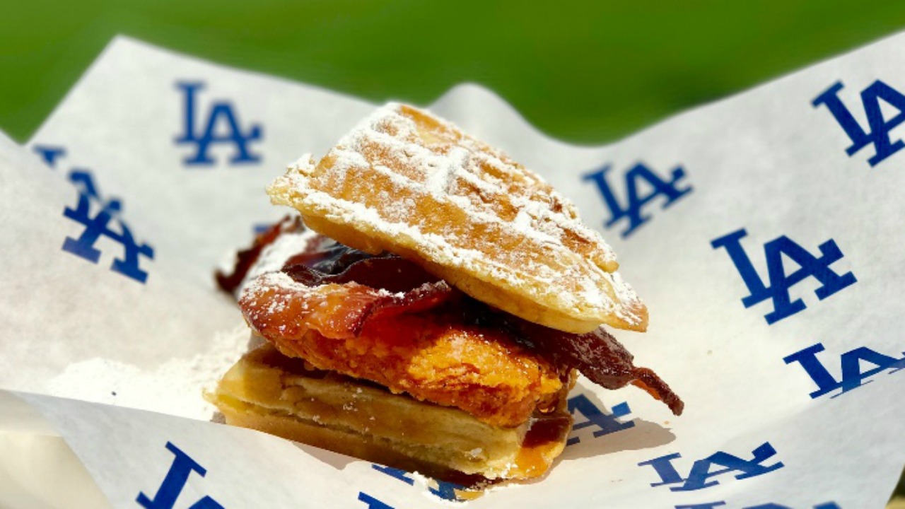 A fried chicken and Belgian waffle sandwich will be offered when the Atlanta Braves play starting Thursday, July 20, 2017.