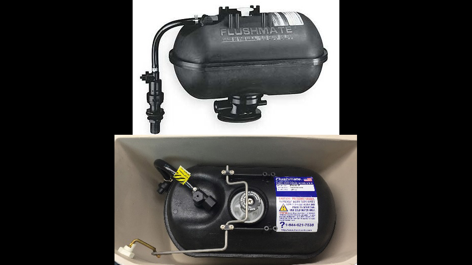 Recalled Flushmate II 501-B pressure-assisted flushing systems