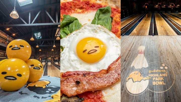 Adore Sanrio's most famous shell-rocking celebrity? Find Gudetama at Highland Park Bowl, in the food, the lanes, and the merchandise, too.