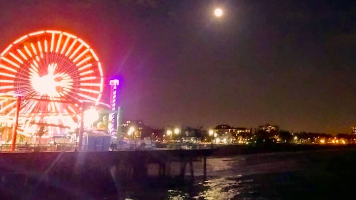Is that a gigantic ghost at Santa Monica Pier? See sparkly spirits done up in festive Ferris wheel lights, right at the ocean's edge, through Nov. 1, 2018.