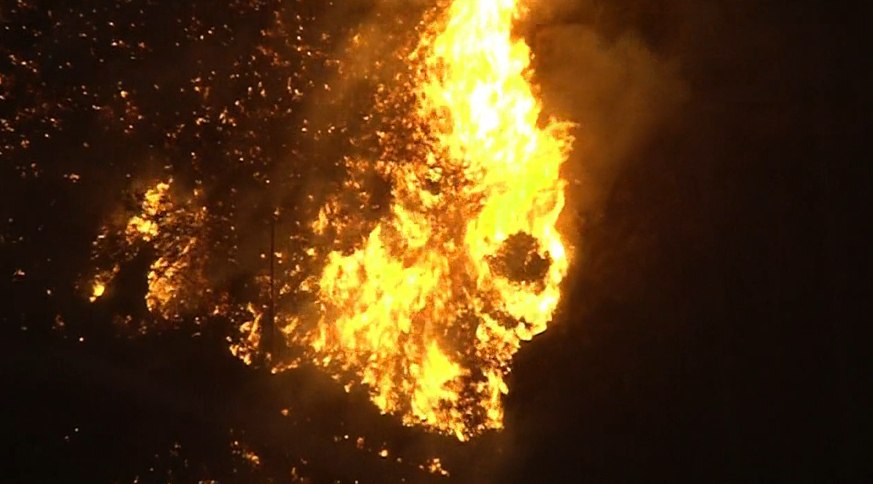 A fast-moving brush fire erupted near Newbury Park Nov. 8, 2018, burning tens of thousands of acres into the night.