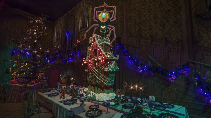 Now through Jan. 6, 2019, Haunted Mansion Holiday brings the frightfully fun cheer of