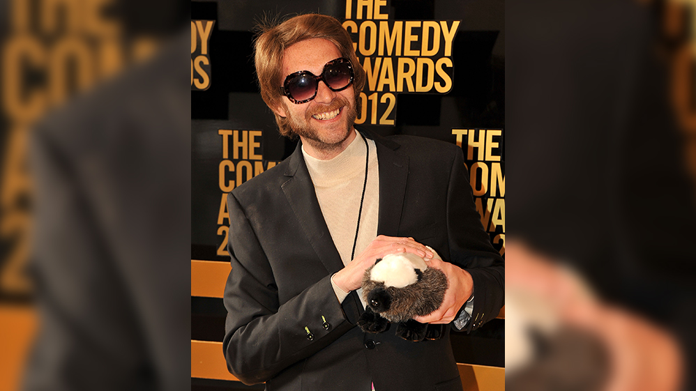 In this April 28, 2012, file photo, 'Randall', the voice behind the 'Honey Badger' video attends The Comedy Awards 2012 at Hammerstein Ballroom in New York City.