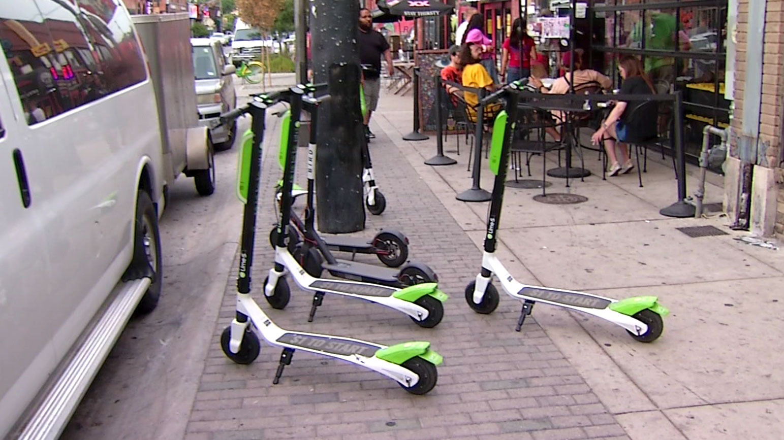 Lime-S dockless rental scooters