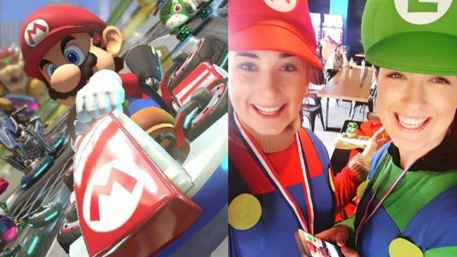 Real-Life Mushroom Rally to Mario Kart-up Your March