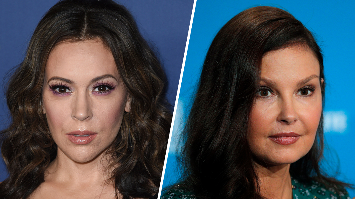 These file photos show Alyssa Milano (left) and Ashley Judd.