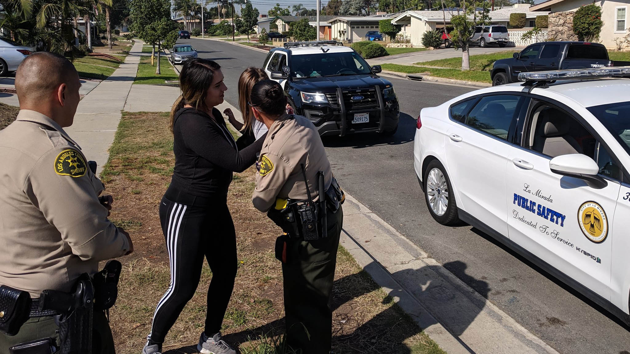 A mother was reunited with a toddler after the girl was found wandering alone in La Mirada Friday, Oct. 26, 2018.