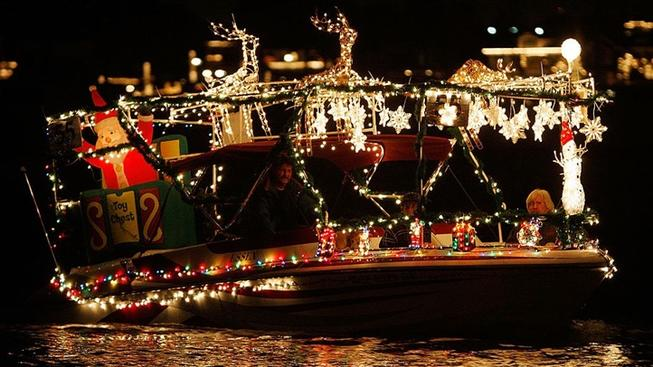 The Newport Beach Christmas Boat Parade sails for several nights, right through to Sunday, Dec. 23, 2018.