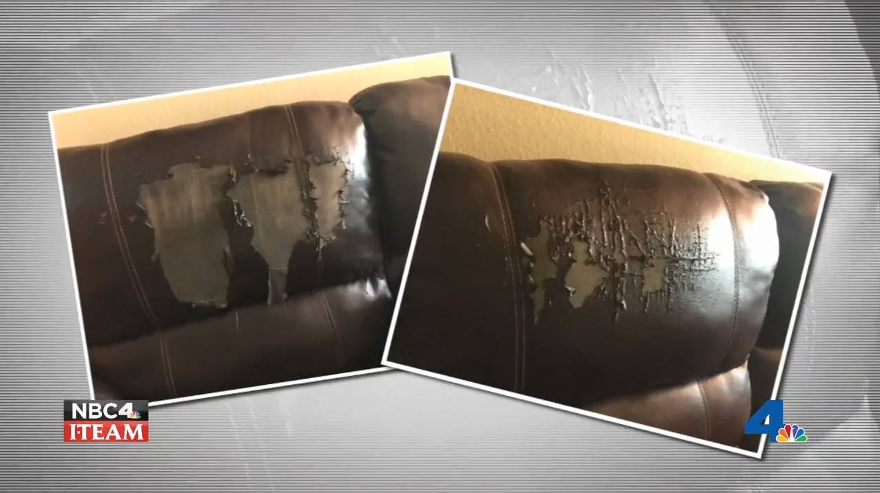 Consumers who say their furniture is peeling and falling apart are warning other shoppers to avoid buying bonded leather. Randy Mac investigates for the NBC4 News on Wednesday, May 23, 2016.