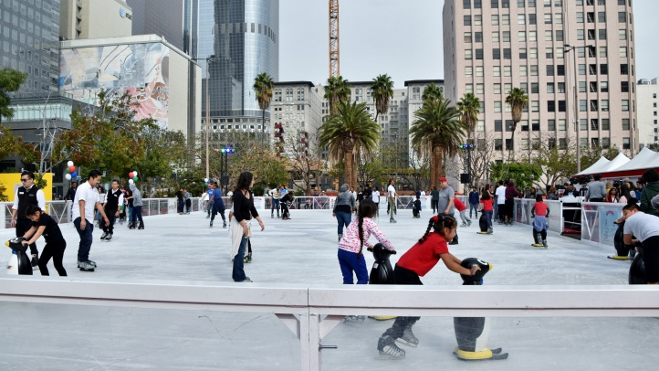 Taking a few spins by the skyscrapers of DTLA? The popular seasonal pop-up is ready to charm for two-plus months, starting on Thursday, Nov. 15.