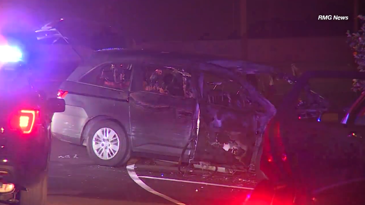 Minivan in Fatal 405 Crash Had Been Reported Stolen