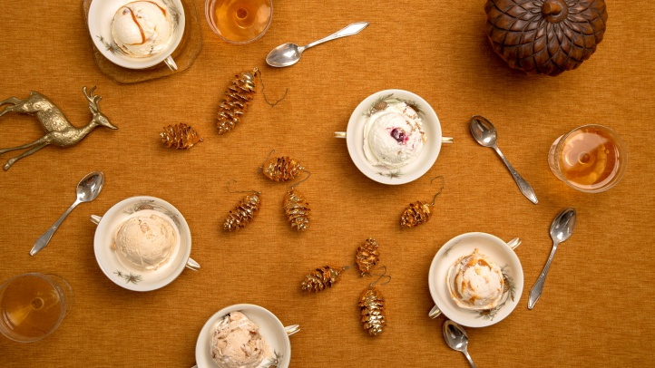 The Thanksgiving-themed scoops at Salt & Straw pay homage to the classics of the holiday table, through the end of November 2018.