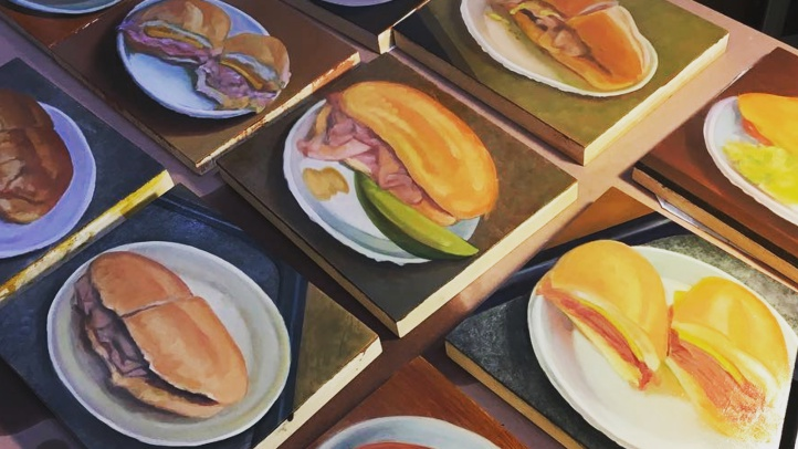 A week-long exhibit at Philippe the Original will pay hearty homage to the sandwiches we love and the artisans who create them. The works of artist Gregory Gibbs will be on view from Sept. 29 through Oct. 6, 2018.