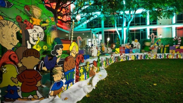 The mega Peanuts-cute display began at an area home in 1966, but you can now find it at Costa Mesa City Hall from Dec. 14 through 23, 2018.