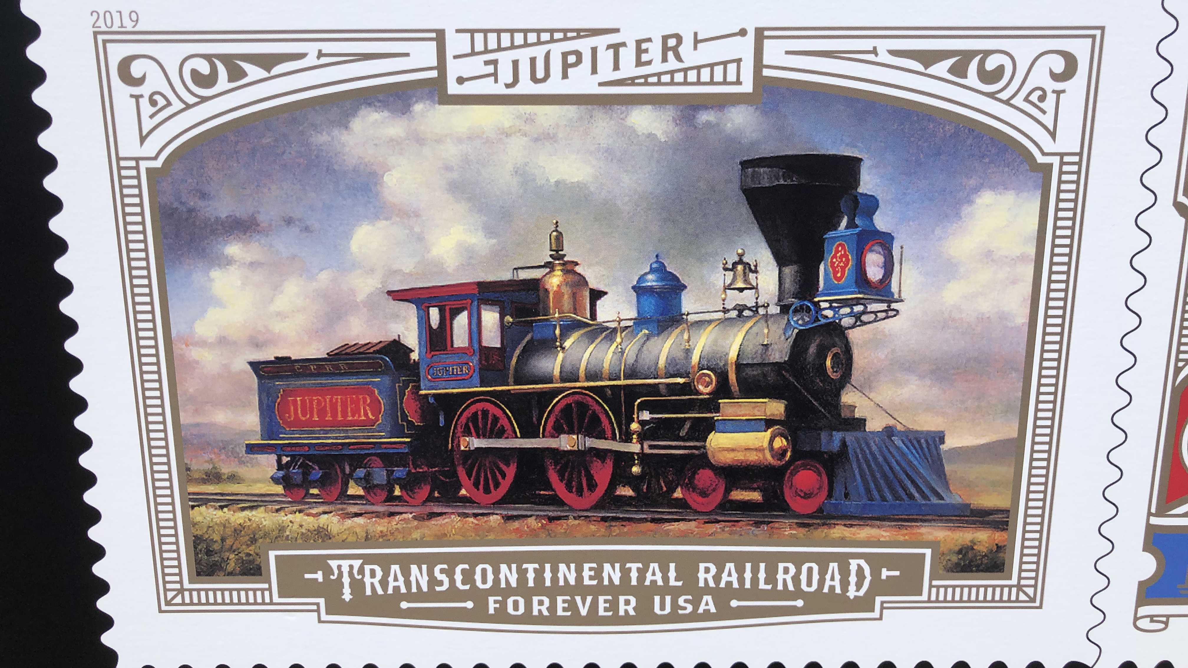 Postal Service Unveils Transcontinental Railroad Forever Stamps