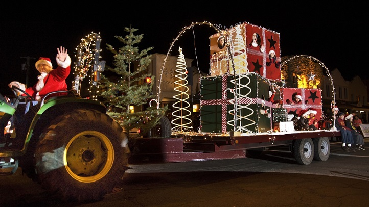 Mega road vehicles'll sparkle their way through the heart of the wine country town, on the first day of December.