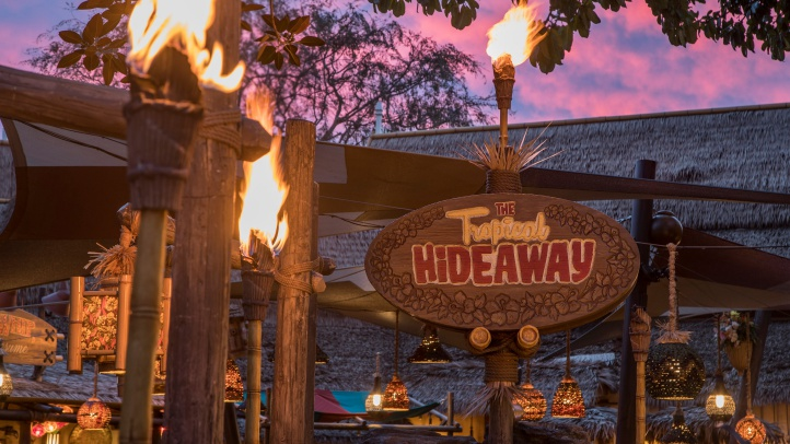 Located on the shores of Adventureland at Disneyland Park, The Tropical Hideaway will be the destination for extraordinary worldly eats when it opens. Menu items include warm steamed bao buns, chilled ramen salad, Sweet Pineapple Lumpia, Dole Whip and more. Disneyland Park is located in Anaheim, Calif. (Joshua Sudock/Disneyland Resort)