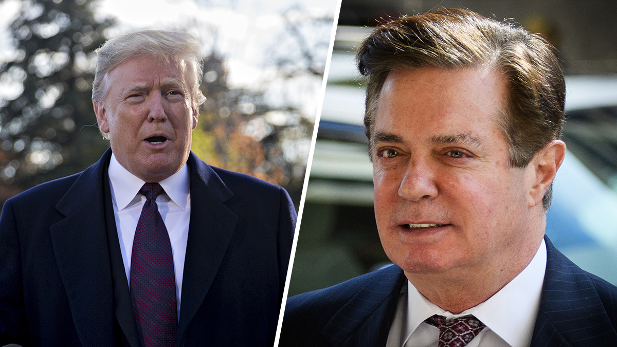 President Donald Trump (L) and Paul Manafort.