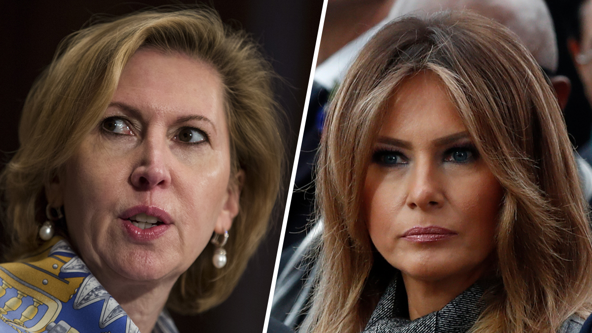 Deputy national security adviser Mira Ricardel (left) and first lady Melania Trump (right).