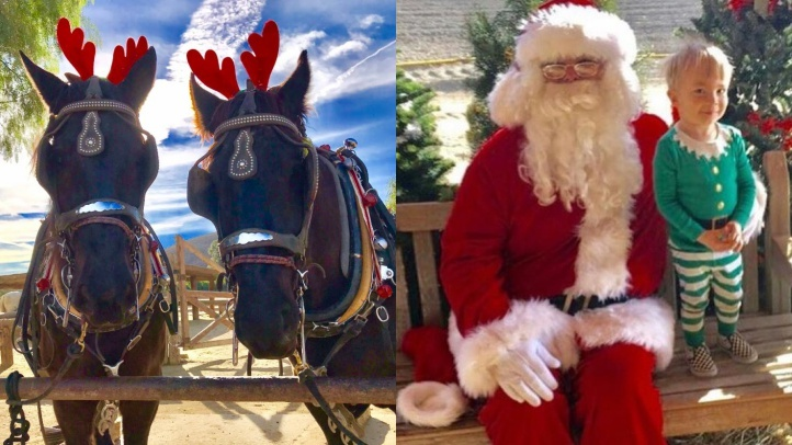 Santa Claus will visit the Moorpark Farm Center at Underwood Family Farms on Dec. 1, 2, 8 and 9, 2018.