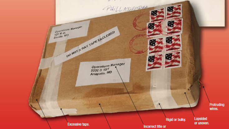 The United States Postal Service had a list of tips on what to do if you encounter a suspicious package.