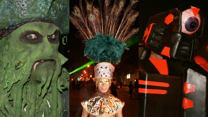 Over a half million people, many in elaborate costumes, will parade along Santa Monica Boulevard in West Hollywood on Wednesday, Oct. 31.